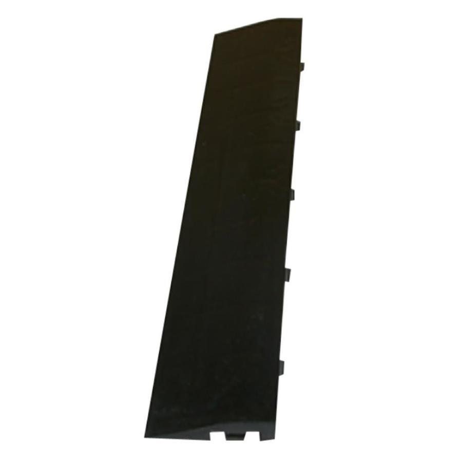 Greatmats Maxtile 4-Pack 2.375-in x 12-in Black Loose Lay (Solid Color) Vinyl Plastic Tile Multipurpose Flooring