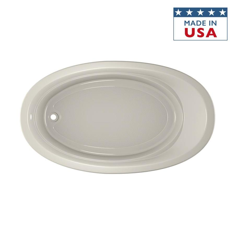 Jacuzzi Riva Acrylic Oval Drop-in Bathtub with Reversible Drain (Common: 42-in x 72-in; Actual: 20.5-in x 42-in x 72-in)