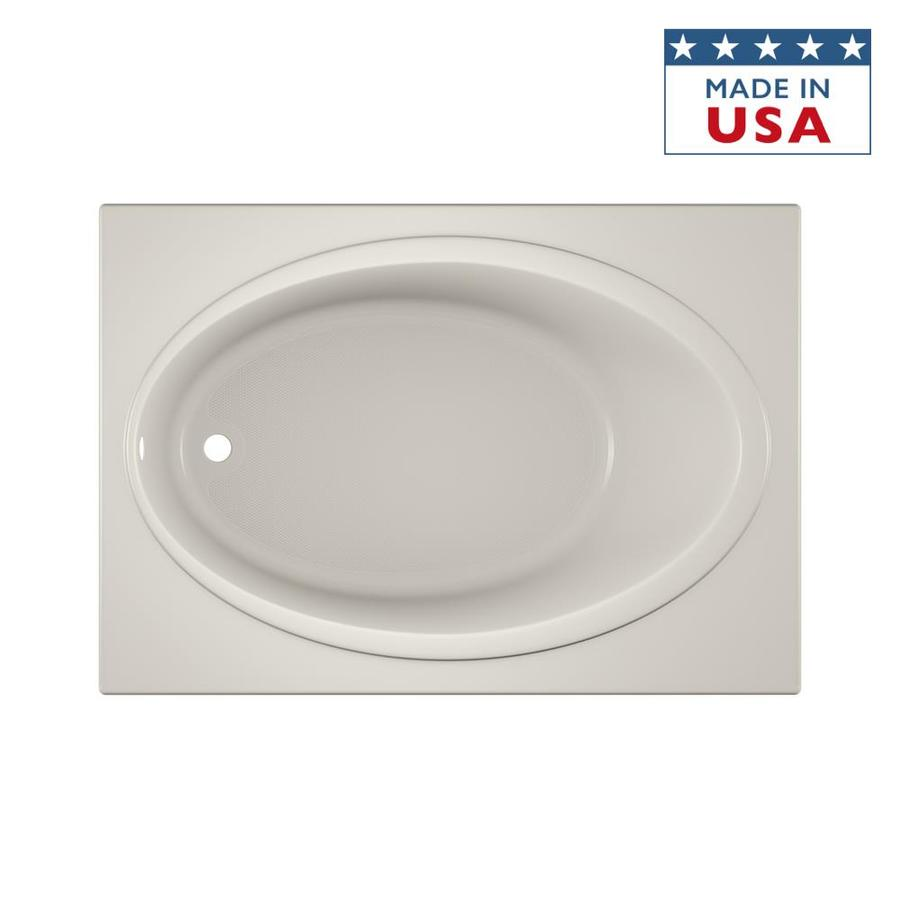 Jacuzzi Nova Acrylic Oval In Rectangle Drop-in Bathtub with Reversible Drain (Common: 42-in x 60-in; Actual: 18.5-in x 42-in x 60-in)