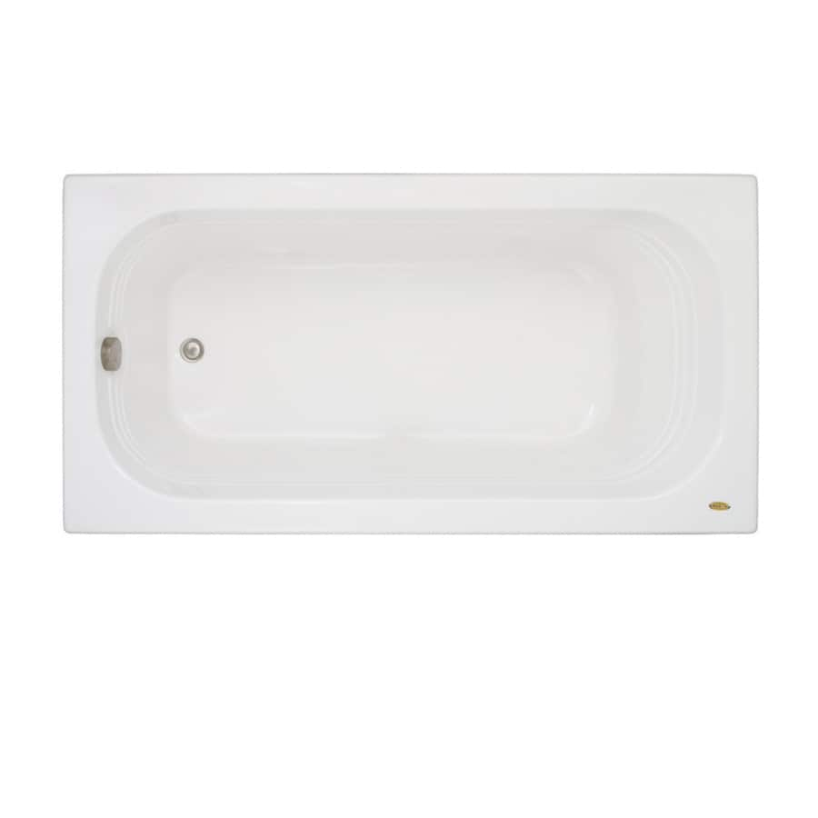 Jacuzzi Luxura Acrylic Oval In Rectangle Drop-in Bathtub with Right-Hand Drain (Common: 32-in x 60-in; Actual: 20.25-in x 32-in x 60-in)