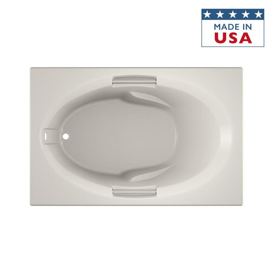 Jacuzzi Nova Acrylic Oval In Rectangle Drop-in Bathtub with Reversible Drain (Common: 36-in x 60-in; Actual: 19.25-in x 36-in x 60-in)
