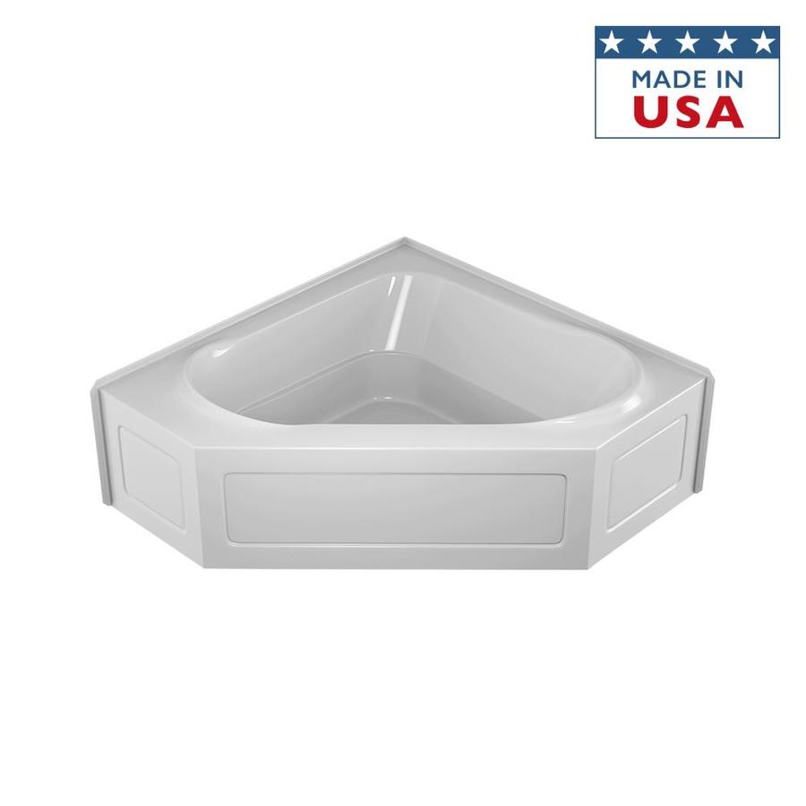 Shop Jacuzzi Capella Acrylic Corner Skirted Bathtub With Center Drain Common