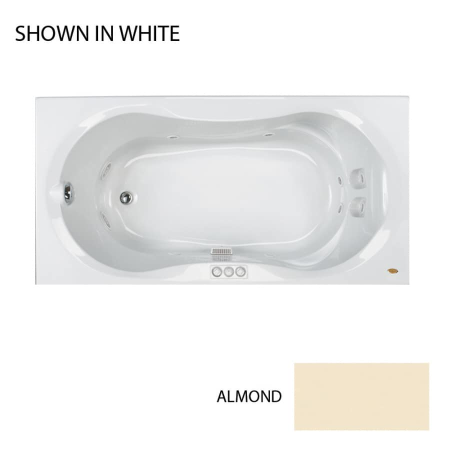 Jacuzzi Acrylic Hourglass Whirlpool Tub (Common: 36-in x 72-in; Actual: 20-in x 36-in x 72-in)
