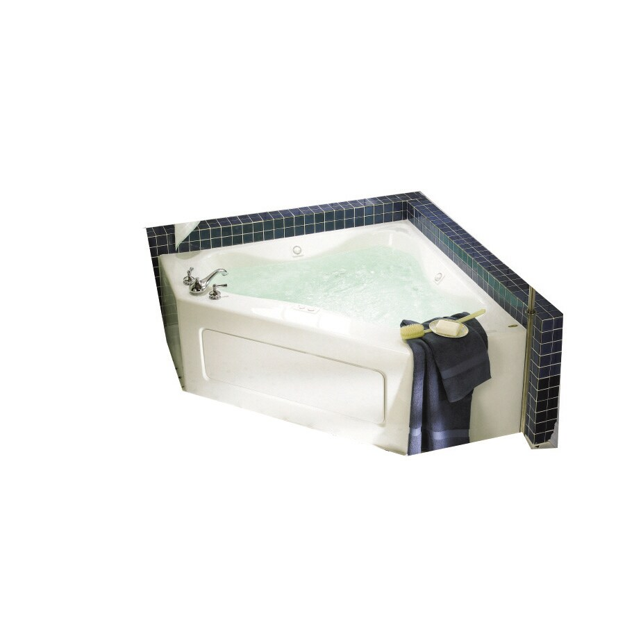 Jacuzzi Acrylic Corner Whirlpool Tub (Common: 60-in x 60-in; Actual: 22-in x 60-in x 60-in)