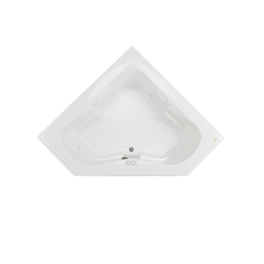 shop jacuzzi espree 2 person white acrylic corner