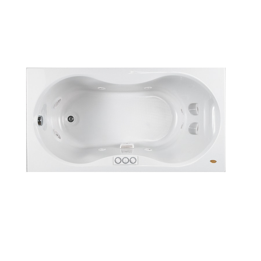 Jacuzzi Espree White Acrylic Hourglass Whirlpool Tub (Common: 32-in x 60-in; Actual: 22-in x 32-in x 60-in)
