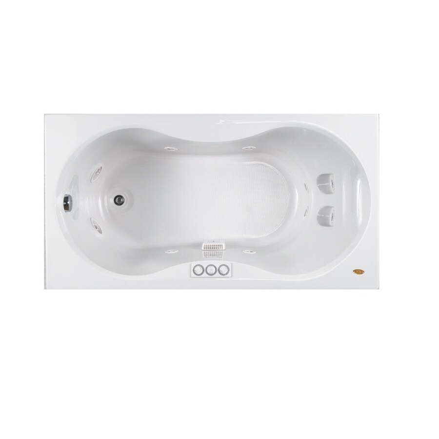 Jacuzzi 60-in L x 32-in W x 22-in H Hourglass Jet Whirlpool Tub