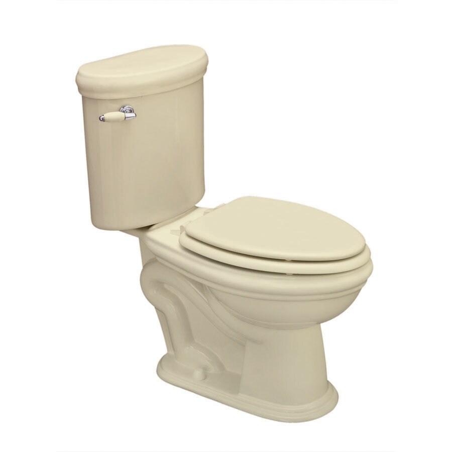 Jacuzzi Era Almond 1.6 GPF Elongated 2-Piece Toilet