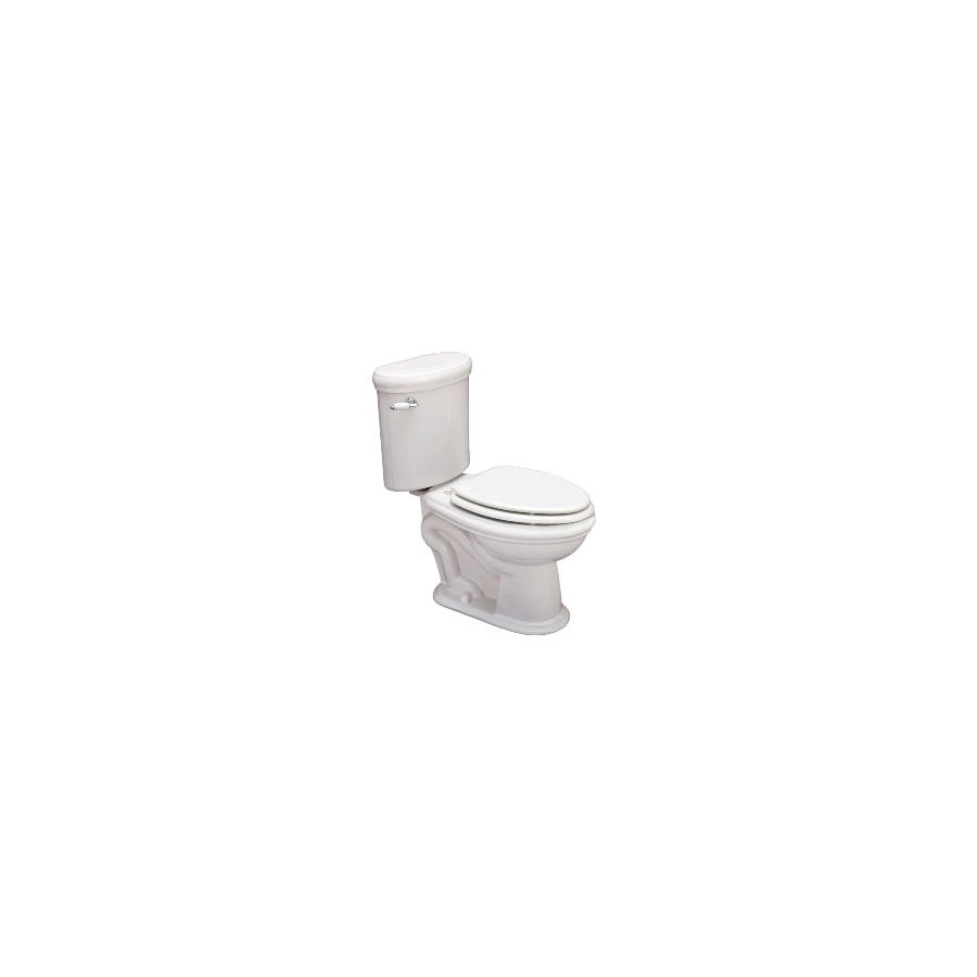 Jacuzzi ERA 959 White 1.6-GPF (6.06-LPF) 12 Rough-In Elongated 2-Piece Chair Height Toilet