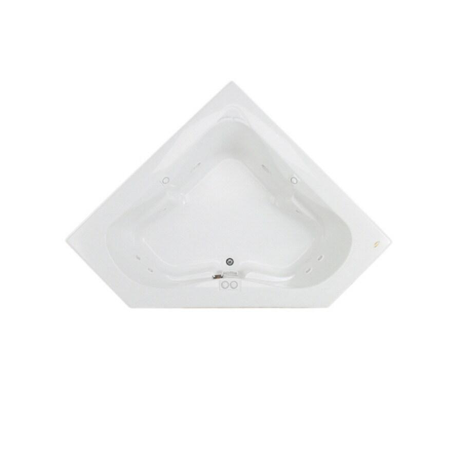 Jacuzzi Acrylic Corner Whirlpool Tub (Common: 60-in x 60-in; Actual: 22-in x 60-in x 60-in)