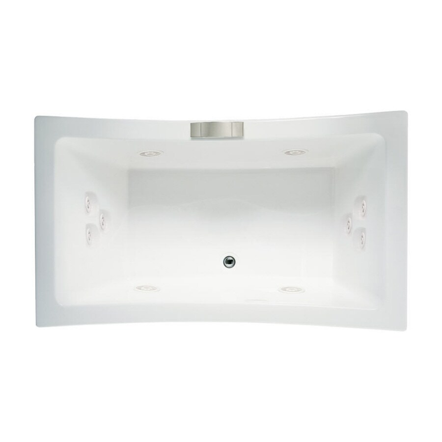 Jacuzzi Allusion 2-Person White Acrylic Rectangular Whirlpool Tub (Common: 42-in x 72-in; Actual: 26-in x 42-in x 72-in)