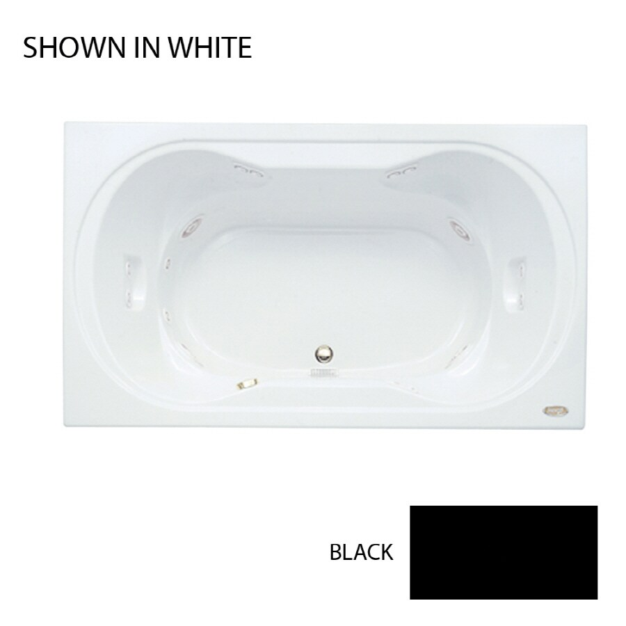 Jacuzzi Real 2-Person Black Acrylic Hourglass In Rectangle Whirlpool Tub (Common: 42-in x 72-in; Actual: 26-in x 42-in x 72-in)