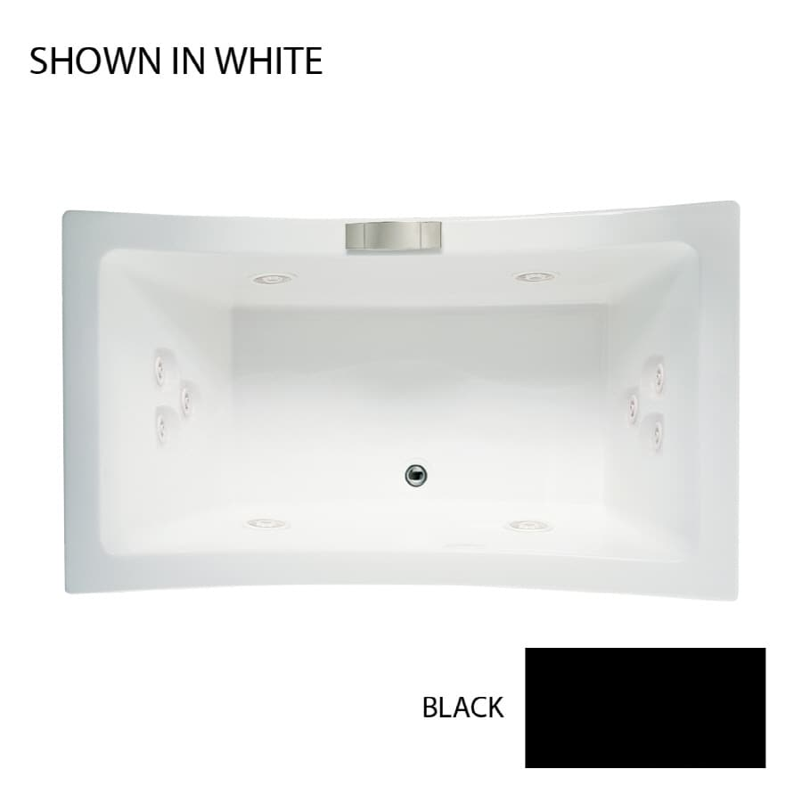 Jacuzzi Allusion 2-Person Black Acrylic Rectangular Whirlpool Tub (Common: 42-in x 72-in; Actual: 26-in x 42-in x 72-in)