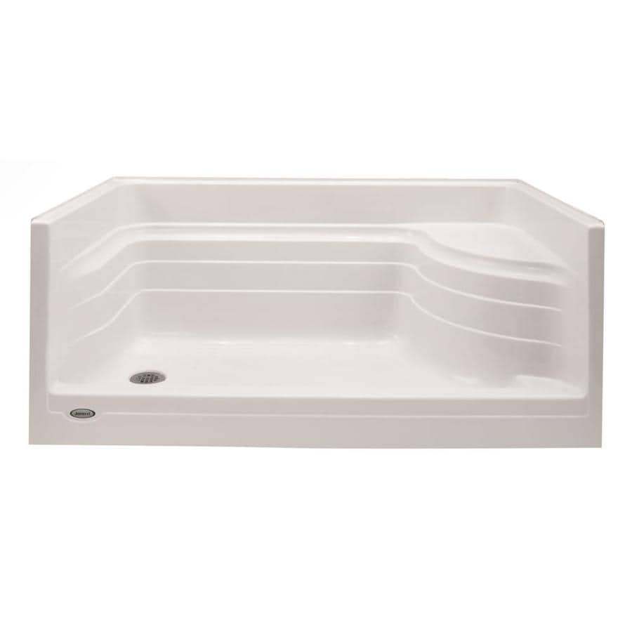 Jacuzzi Bonaire White Acrylic Shower Base (Common: 48-in W x 48-in L; Actual: 48-in W x 48-in L)