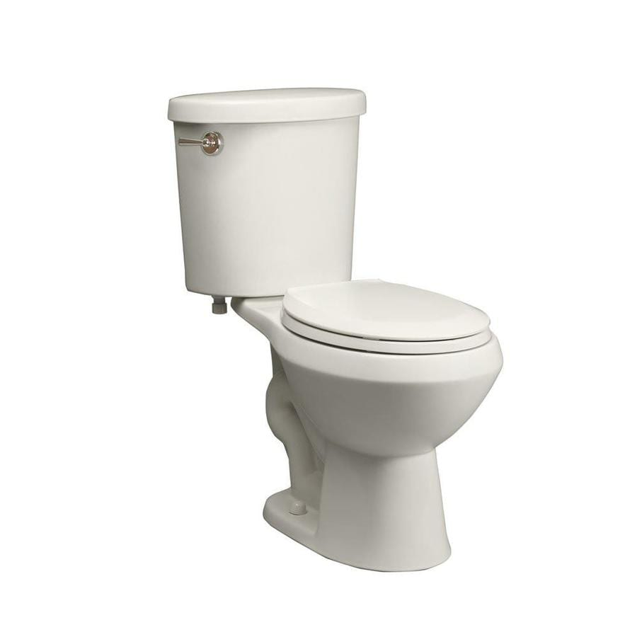 Jacuzzi Perfecta White 1.6-GPF/6.06-LPF 12-in Rough-in Round 2-Piece Comfort Height Toilet