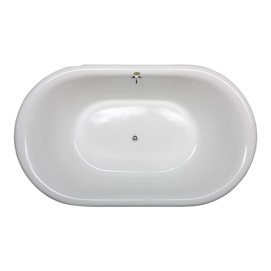 Jacuzzi Era White Acrylic Oval Pedestal Bathtub with Center Drain (Common: 36-in x 66-in; Actual: 20-in x 36-in x 66-in)