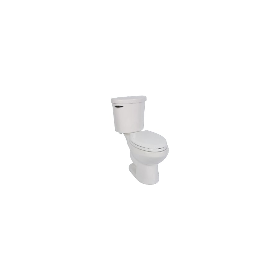 Jacuzzi Perfecta 959 White 1.28-GPF (4.85-LPF) 12 Rough-In WaterSense Elongated 2-Piece Chair Height Toilet