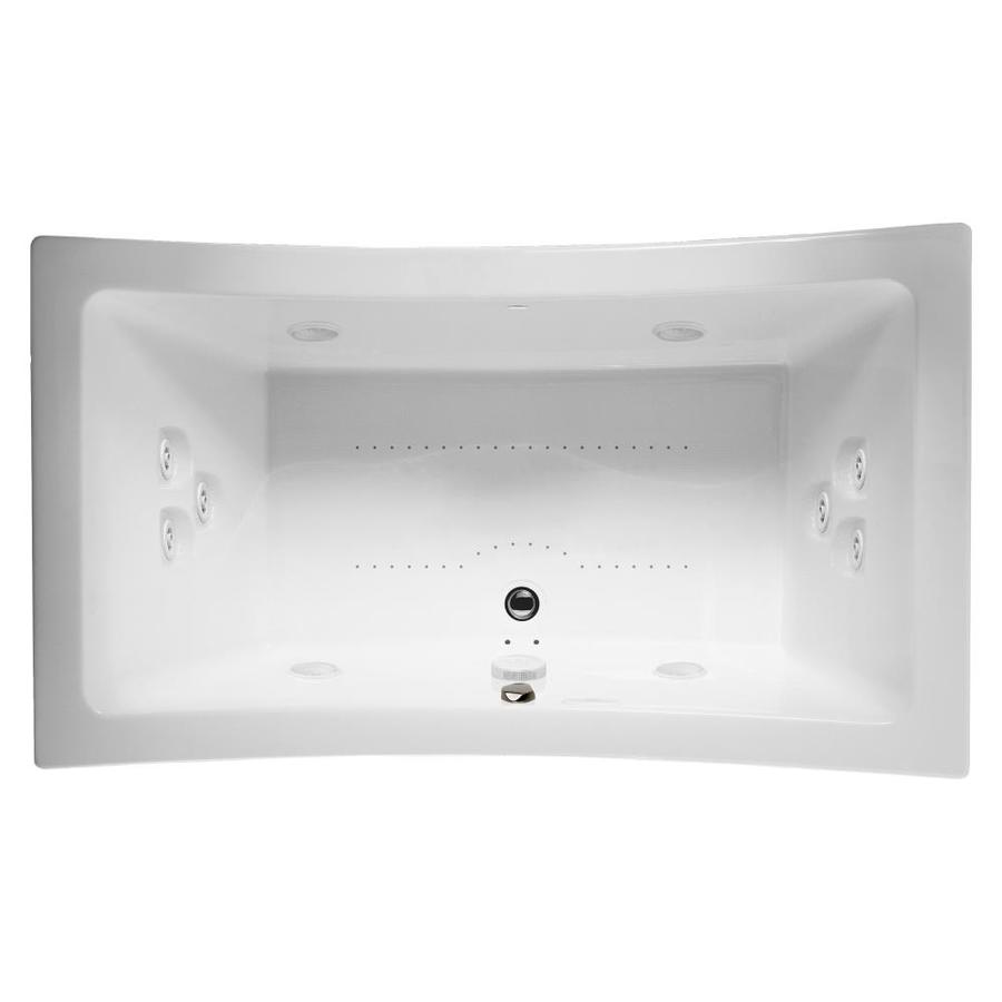Jacuzzi Allusion 72-in L x 36-in W x 26-in H 2-Person White Acrylic Rectangular Drop-in Whirlpool Tub and Air Bath