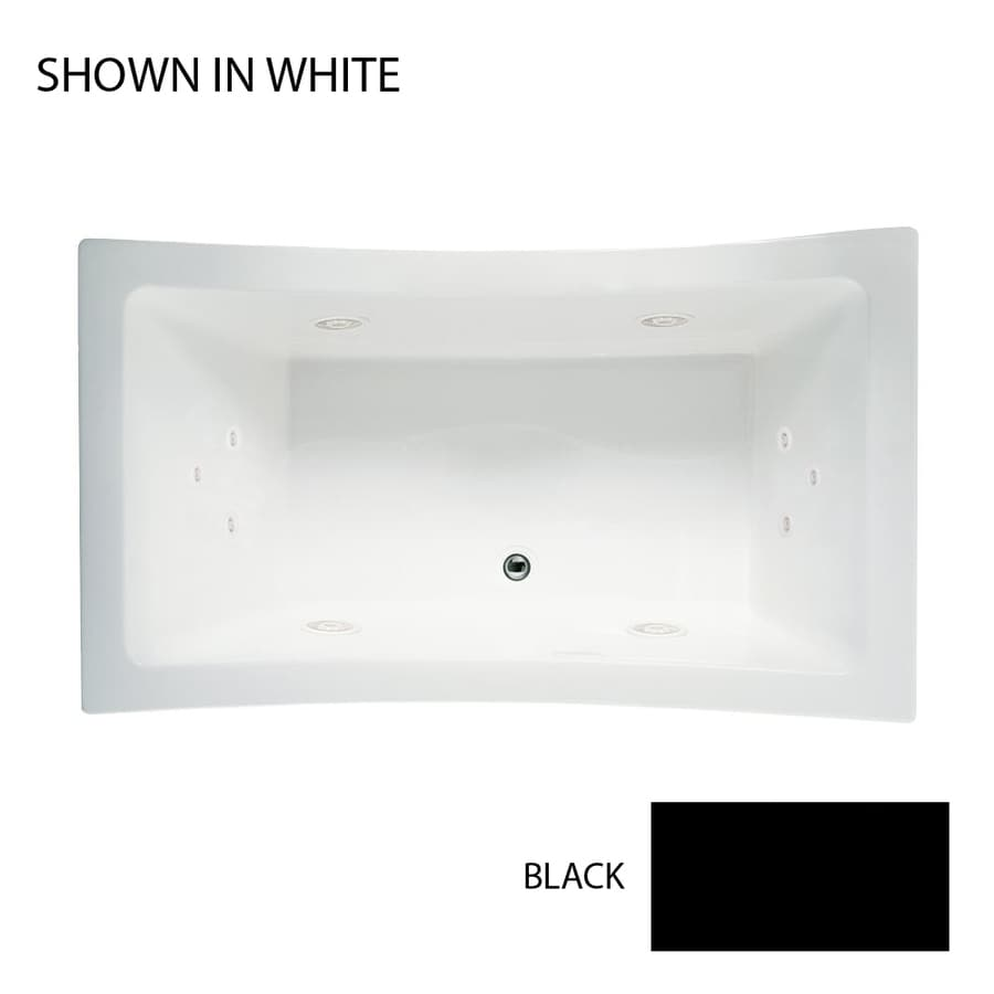 Jacuzzi Allusion 2-Person Black Acrylic Rectangular Whirlpool Tub (Common: 42-in x 72-in; Actual: 42-in x 42-in x 72-in)