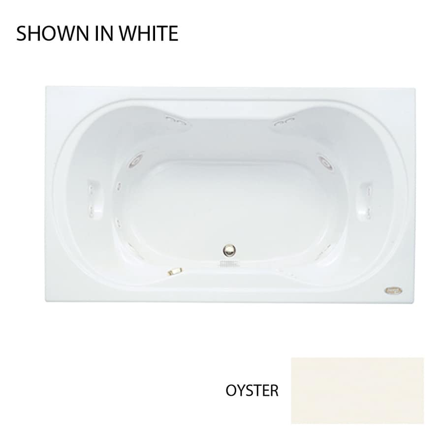 Jacuzzi Real 2-Person Oyster Acrylic Hourglass In Rectangle Whirlpool Tub (Common: 42-in x 72-in; Actual: 26-in x 42-in x 72-in)
