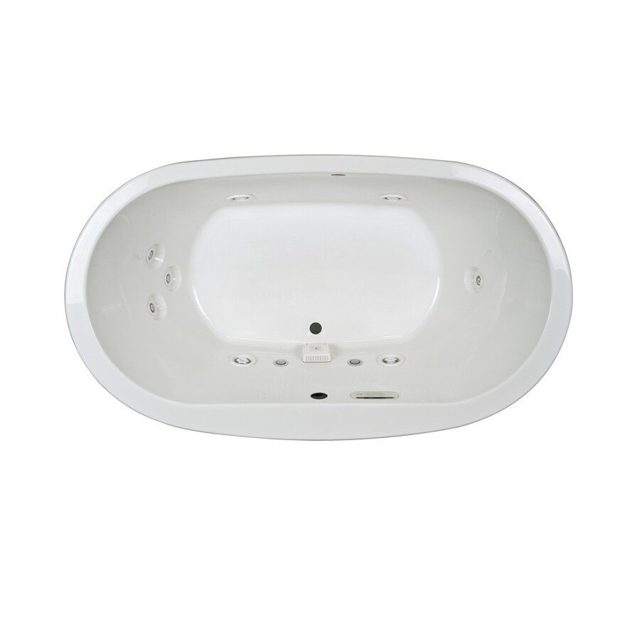 Jacuzzi Mio 2-Person White Acrylic Oval Whirlpool Tub (Common: 36-in x 66-in; Actual: 25-in x 36-in x 66-in)