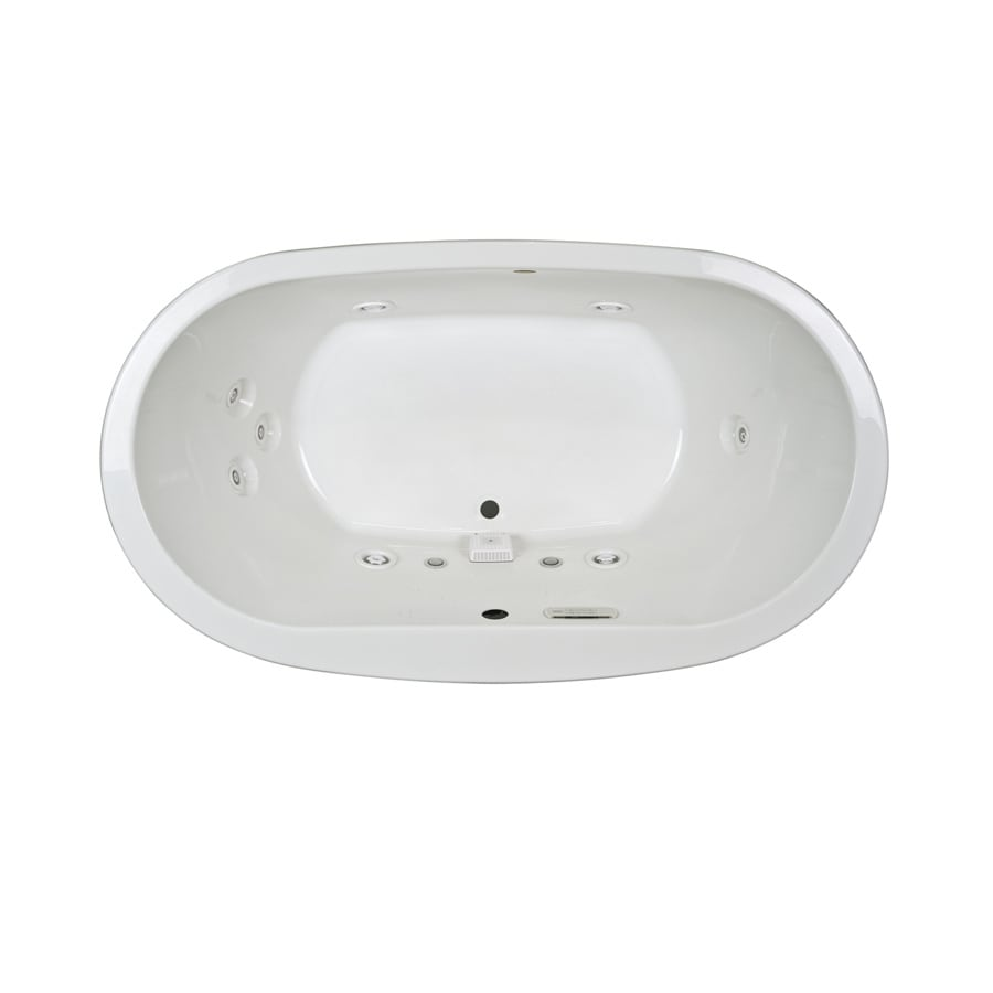 Jacuzzi Mio 2-Person White Acrylic Oval Whirlpool Tub (Common: 42-in x 72-in; Actual: 25-in x 42-in x 72-in)