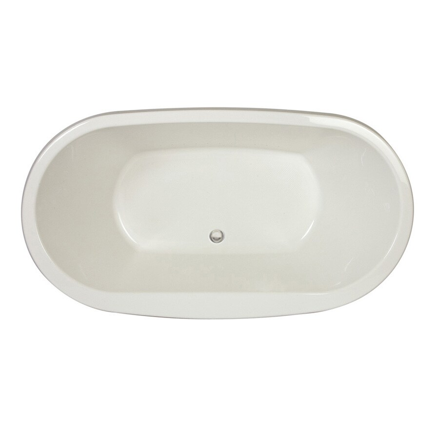 Jacuzzi Mio Acrylic Oval Drop-in Bathtub with Front Center Drain (Common: 42-in x 72-in; Actual: 25-in x 42-in x 72-in)