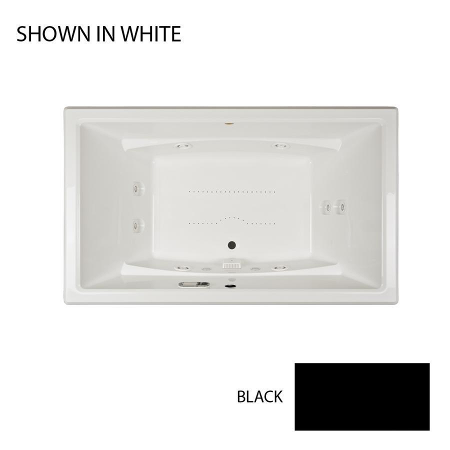 Jacuzzi Acero 72-in L x 42-in W x 25-in H 2-Person Black Acrylic Rectangular Drop-in Whirlpool Tub and Air Bath