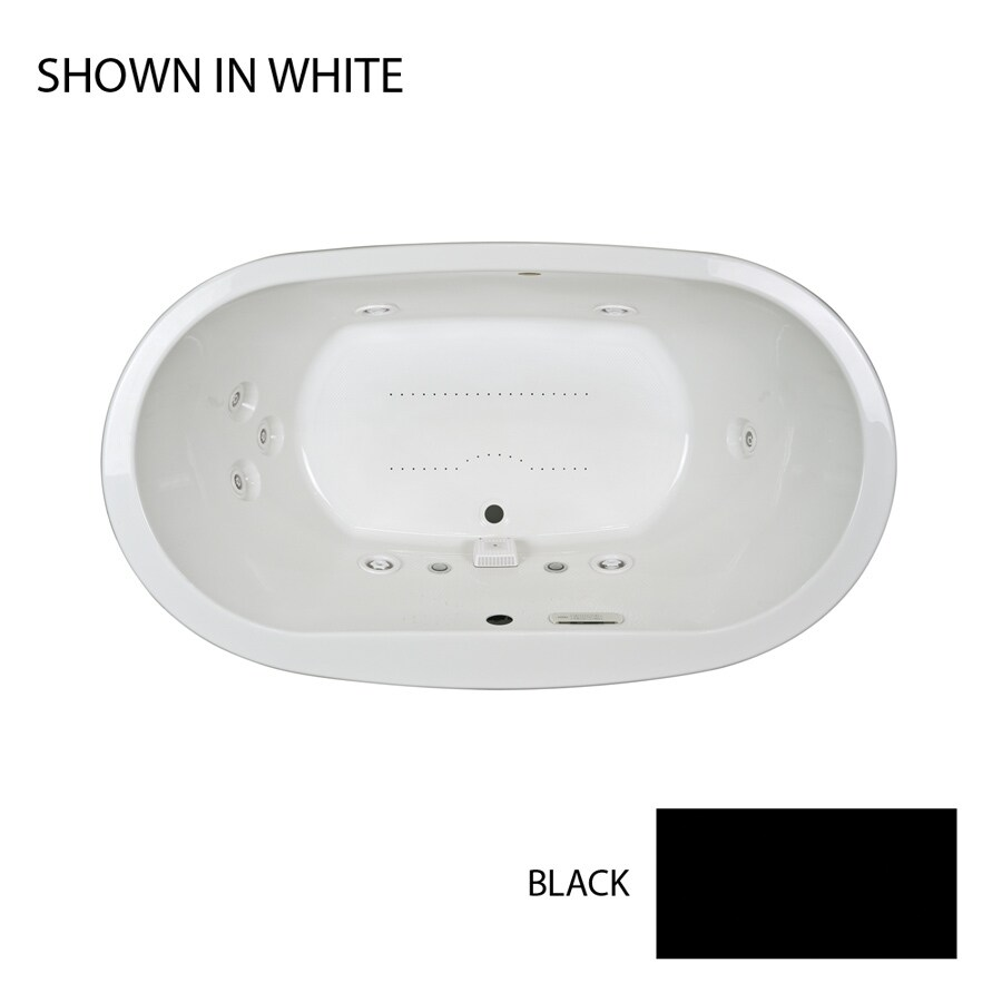 Jacuzzi Mio 72-in L x 42-in W x 24-in H 2-Person Black Acrylic Oval Drop-in Whirlpool Tub and Air Bath