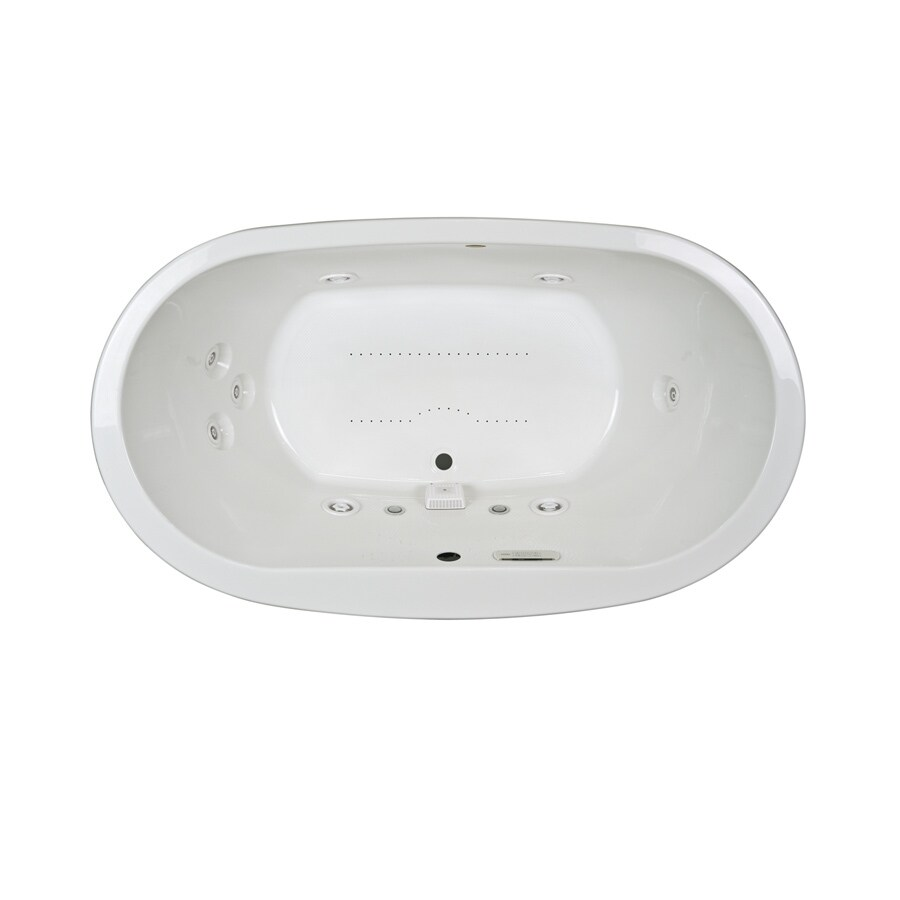 Jacuzzi Mio 72-in L x 42-in W x 25-in H 2-Person White Acrylic Oval Drop-in Whirlpool Tub and Air Bath