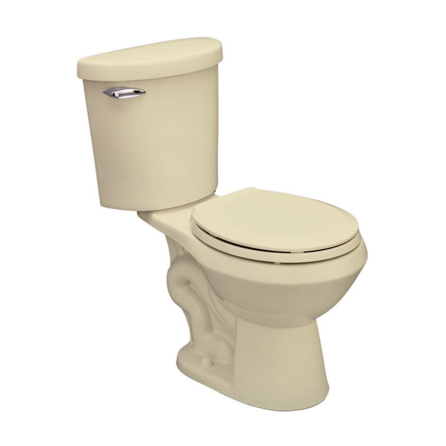 Jacuzzi Perfecta Almond 1.6-GPF (6.06-LPF) 12 Rough-In Round 2-Piece Standard Height Toilet