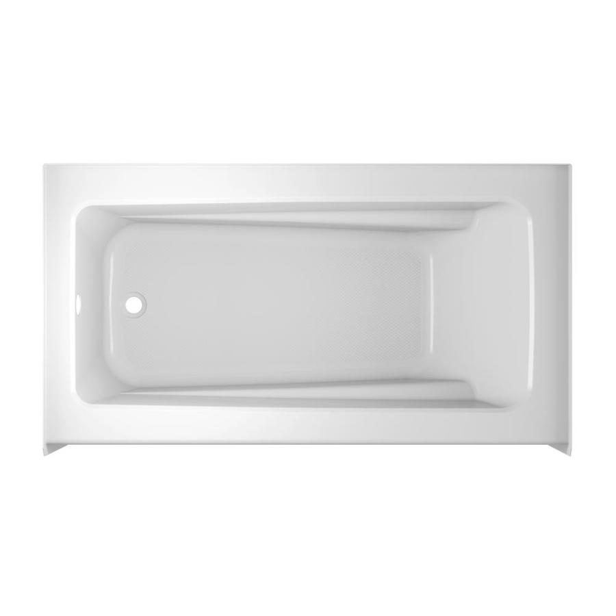 Jacuzzi Primo White Acrylic Rectangular Skirted Bathtub with Left-Hand Drain (Common: 32-in x 60-in; Actual: 19-in x 32-in x 60-in)