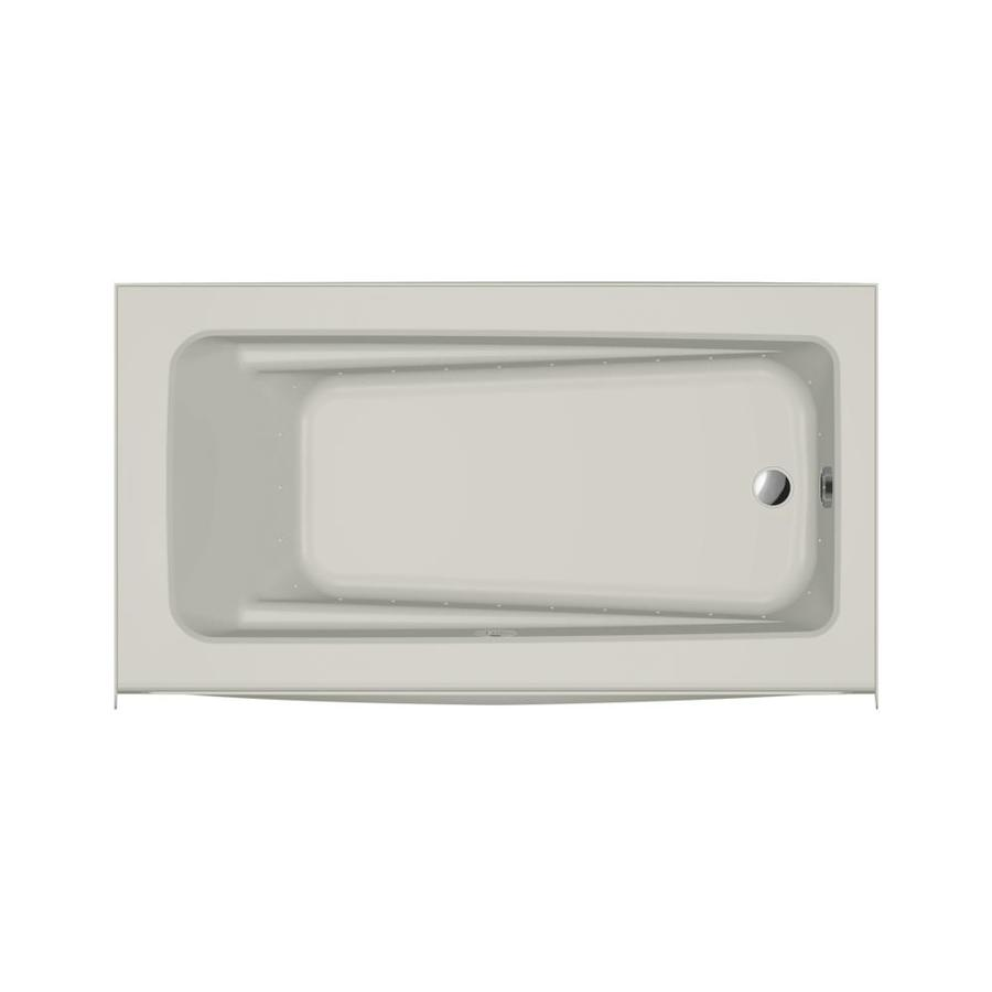 Jacuzzi Primo 60-in L x 32-in W x 19-in H Oyster Acrylic Rectangular Skirted Air Bath