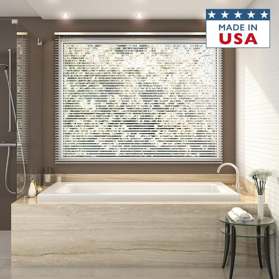 shop jacuzzi primo white acrylic rectangular drop in bathtub with