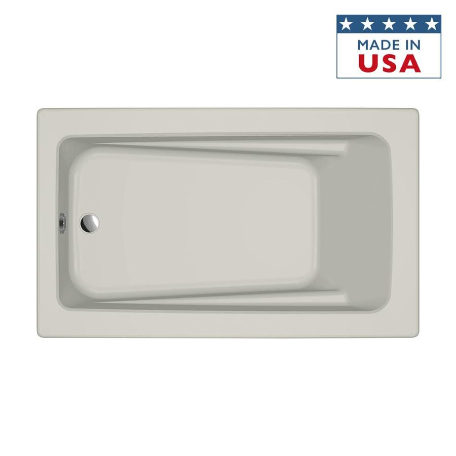Jacuzzi Primo Oyster Acrylic Rectangular Drop-in Bathtub with Reversible Drain (Common: 36-in x 60-in; Actual: 21-in x 36-in x 60-in)