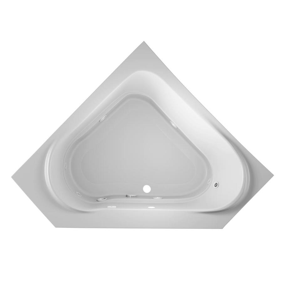 Jacuzzi Capella 2-Person White Acrylic Corner Whirlpool Tub (Common: 60-in x 60-in; Actual: 20-in x 60-in x 60-in)