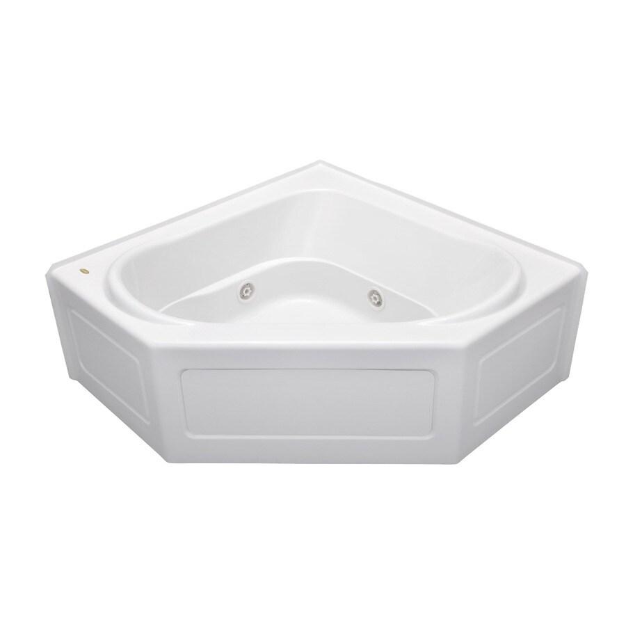 Jacuzzi Capella 2-Person White Acrylic Corner Whirlpool Tub (Common: 60-in x 60-in; Actual: 20.5-in x 60-in x 60-in)