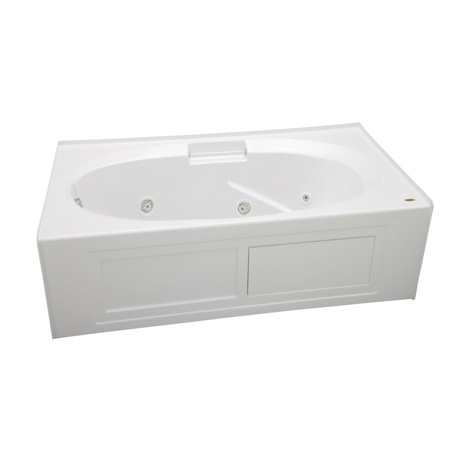 Jacuzzi Nova White Acrylic Oval In Rectangle Whirlpool Tub (Common: 36-in x 60-in; Actual: 19.25-in x 36-in x 60-in)
