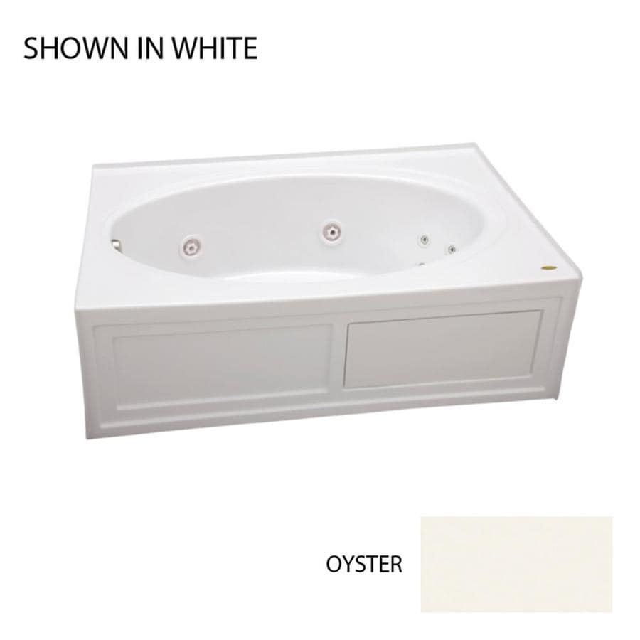 Jacuzzi Nova Oyster Acrylic Oval In Rectangle Whirlpool Tub (Common: 42-in x 60-in; Actual: 18.5-in x 42-in x 60-in)