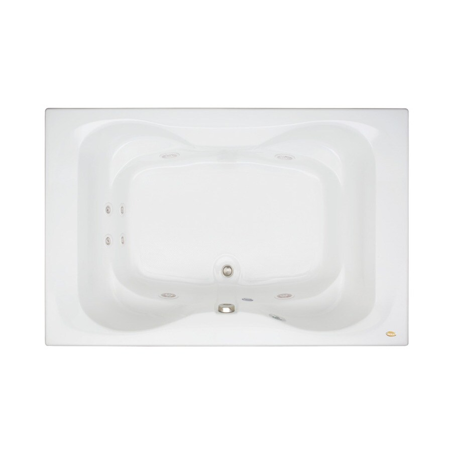 Jacuzzi Mito 2-Person White Acrylic Hourglass In Rectangle Whirlpool Tub (Common: 42-in x 72-in; Actual: 21.5-in x 42-in x 72-in)