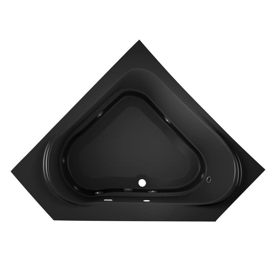 Jacuzzi Capella 2-Person Black Acrylic Corner Whirlpool Tub (Common: 60-in x 60-in; Actual: 20-in x 60-in x 60-in)