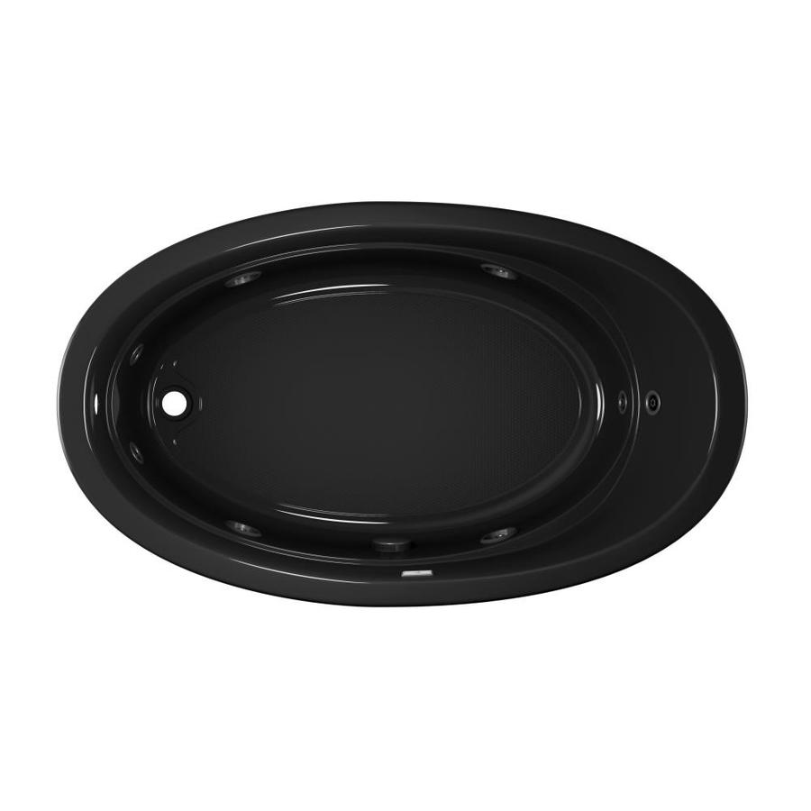 Jacuzzi Gallery Black Acrylic Oval Whirlpool Tub (Common: 42-in x 72-in; Actual: 20.5-in x 42-in x 72-in)