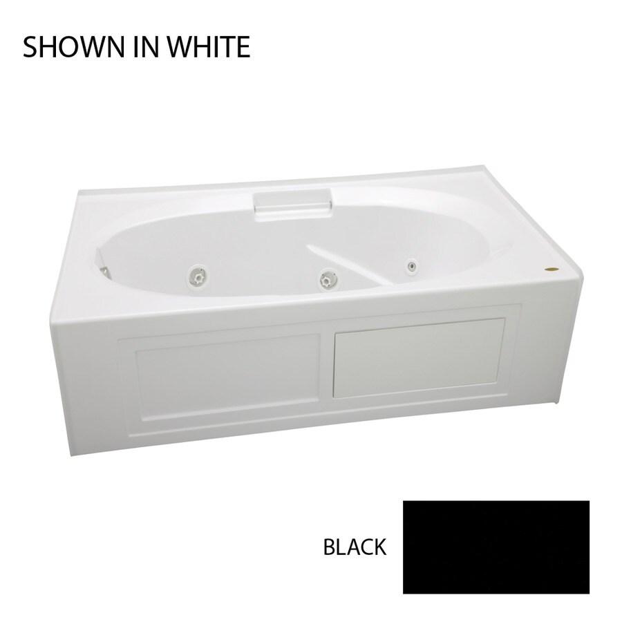 Jacuzzi Nova Black Acrylic Oval In Rectangle Whirlpool Tub (Common: 36-in x 60-in; Actual: 19.25-in x 36-in x 60-in)
