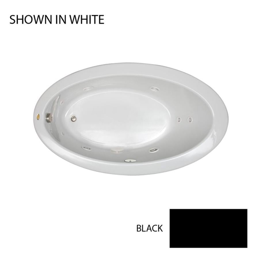 Jacuzzi Riva Black Acrylic Oval Whirlpool Tub (Common: 38-in x 66-in; Actual: 38.25-in x 38.25-in x 66.25-in)