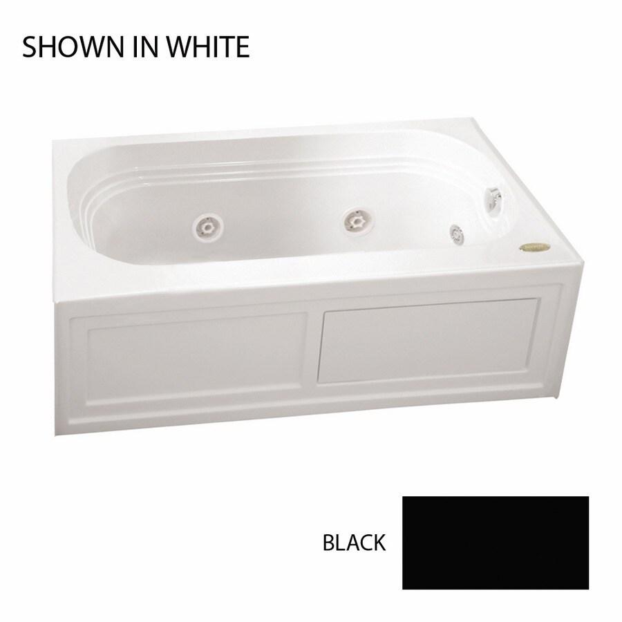 Jacuzzi Luxura Black Acrylic Rectangular Whirlpool Tub (Common: 32-in x 60-in; Actual: 20.25-in x 32-in x 60-in)