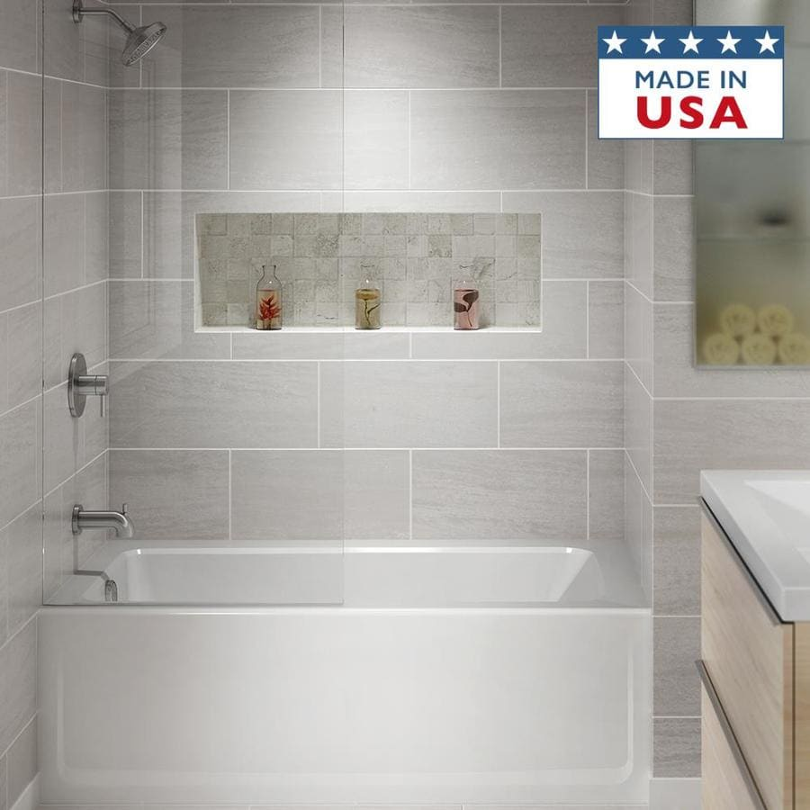Jacuzzi Primo Almond Acrylic Rectangular Skirted Bathtub with Left-Hand Drain (Common: 30-in x 60-in; Actual: 20.25-in x 30-in x 60-in)