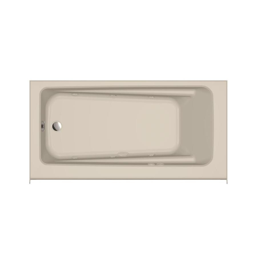 Jacuzzi Primo Oyster Acrylic Rectangular Whirlpool Tub (Common: 30-in x 60-in; Actual: 20.25-in x 30-in x 60-in)