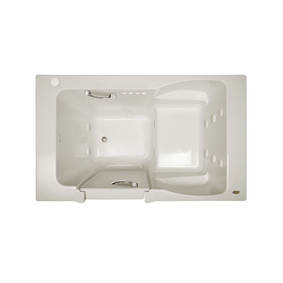 Jacuzzi Finestra 60-in L x 30-in W x 38.5-in H Oyster Acrylic Rectangular Walk-In Whirlpool Tub and Air Bath
