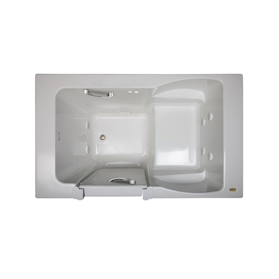 Jacuzzi Finestra White Acrylic Rectangular Walk-in Whirlpool Tub (Common: 36-in x 60-in; Actual: 38.5-in x 36-in)