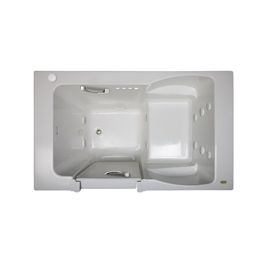 Jacuzzi Finestra 60-in L x 36-in W x 38.5-in H White Acrylic Rectangular Walk-In Whirlpool Tub and Air Bath